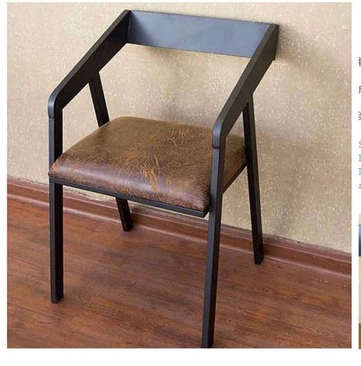 Wrought iron wood overstuffed chair chair/conference chair computer chair seat training chair