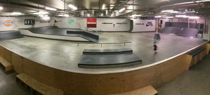 Find an indoor skate park for the whole family to try skateboarding. (This one is All Together Skatepark in Seattle, WA)