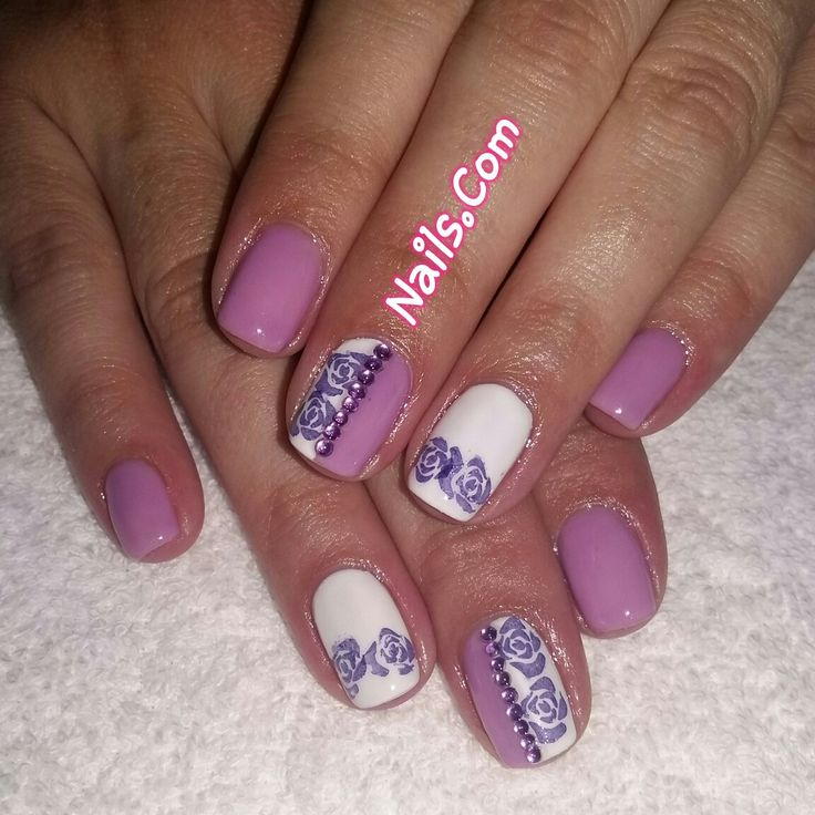 Nele Acrylic Gel Overlays with stamping detail
