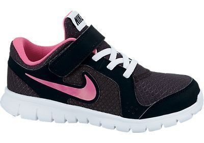 Nike Shoes For Girls Size 12 Girls Nike Pre School Flex Experience Running Shoe Anthracite/White/Black/Pink Foil                                 mesh                    Simple pattern and reduced layering enhances flexibilty                    Phylon midsole provides flexible lightweight cushioning                    Environmentally preferred rubber pods