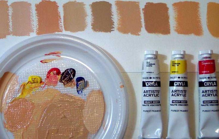 En este video aprenderemos como combinar o mezclar los diferentes tonos de color piel. Estas mezclas se pueden hacer con Pintura al óleo o bien con Pintu...