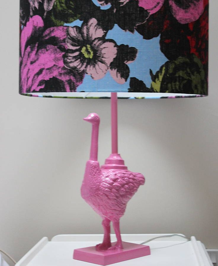 Pink Ostrich Lamp And Shade