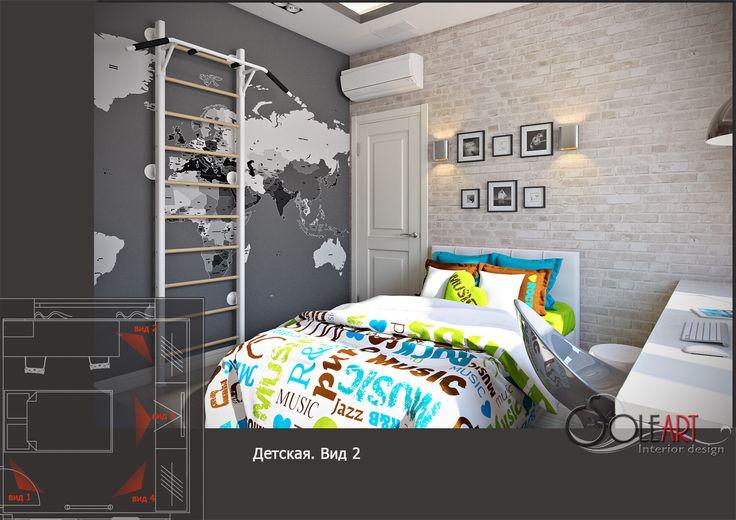 дизайн-проект детской комнаты, дизайн-проект комнаты сына, проект комнаты сына,the son's room