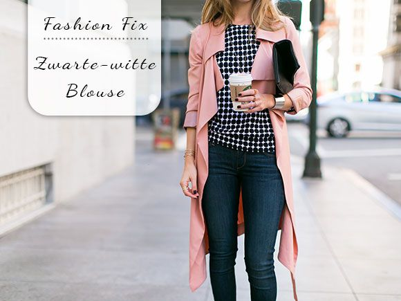 Fashion Fix: Zwart-witte blouse - My Simply Special