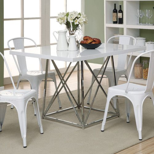 Superior Monarch Kingsville White 5 Piece Modern Dining Set   With Cafe Stools    Perfect For A Smaller Dining Area, The Monarch Kingsville White 5 Piece  Modern ...