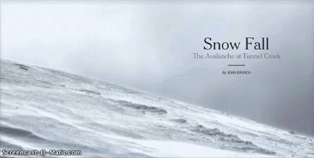 How The New York Times' 'Snow Fall' project unifies text, multimedia