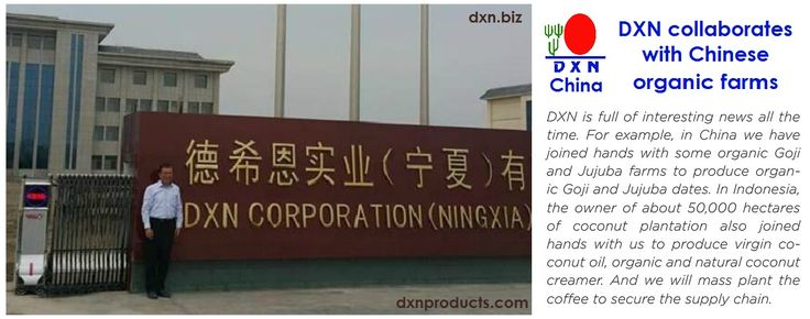DXN China investment! About DXN:http://dxnproducts.com/