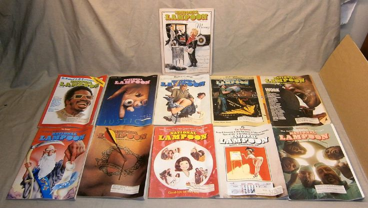 Magazines: Lot Of 11 Vintage 1975 National Lampoon Magazines -> BUY IT NOW ONLY: $14.5 on eBay!