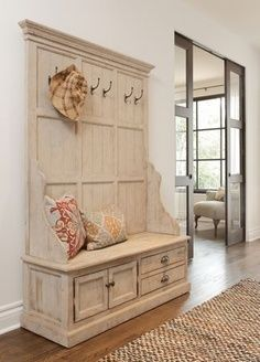 diy mud room ideas | Entry Way Storage Bench & Mud Room Bench