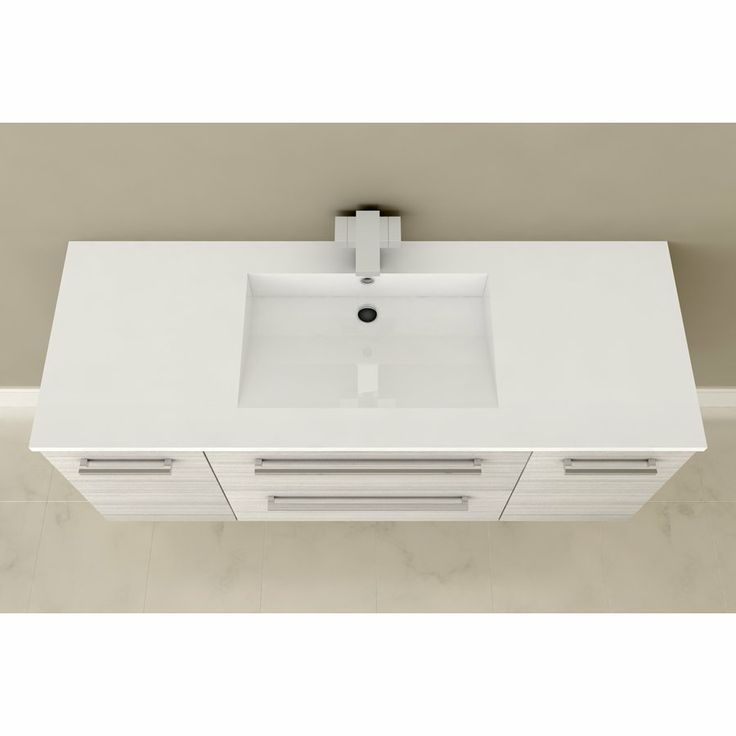 Cutler silhouette 48 in x 19 in single sink bathroom vanity with cultured marble top bathroom - Cultured marble bathroom vanity tops ...