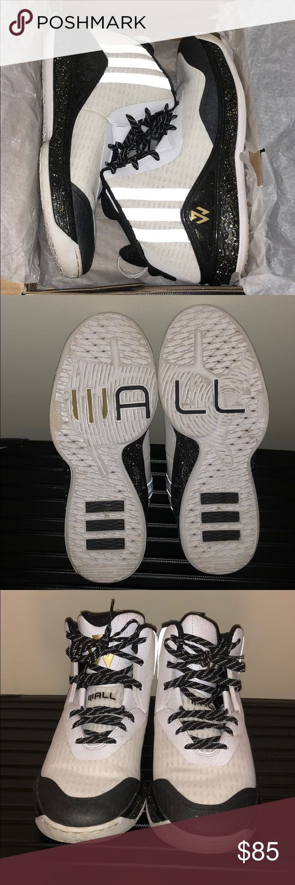 Adidas John Wall All Star Shoes White/Black/Gold John Wall All Star Shoes size 9. Only worn twice. adidas Shoes Athletic Shoes