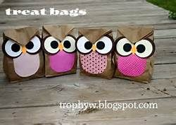 owl goodie bags - so adorable for kids bdays or owl theme baby shower.