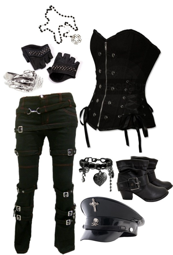 all black outfits polyvore
