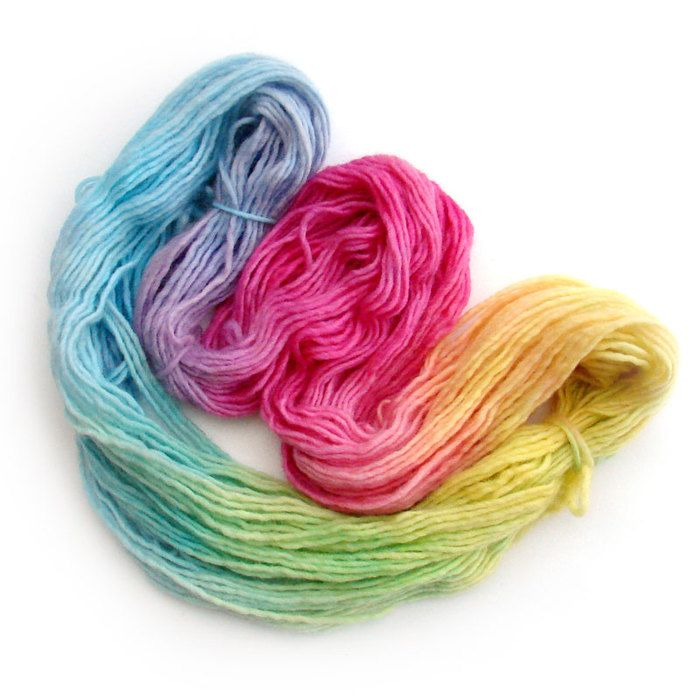 Free tutorial: How to dye wool yarn in sections shades using microwave.