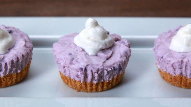 How To Make These Mini No-Bake Ube Cheesecakes