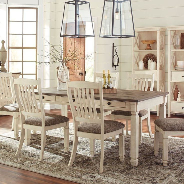 That Furniture Outlet - Minnesota's #1 Furniture Outlet. We have exceptionally low everyday prices in a very relaxed shopping atmosphere. Ashley Bolandburg 9 Piece Dining Set thatfurnitureoutlet.com #thatfurnitureoutlet  #thatfurniture  High Quality. Terrific Selection. Exceptional Prices.