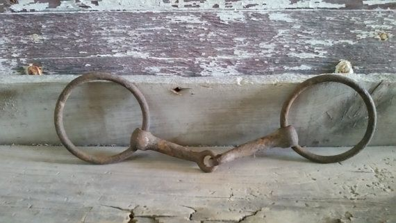 Horse bit vintage, old and rusty horse bit, horse decor