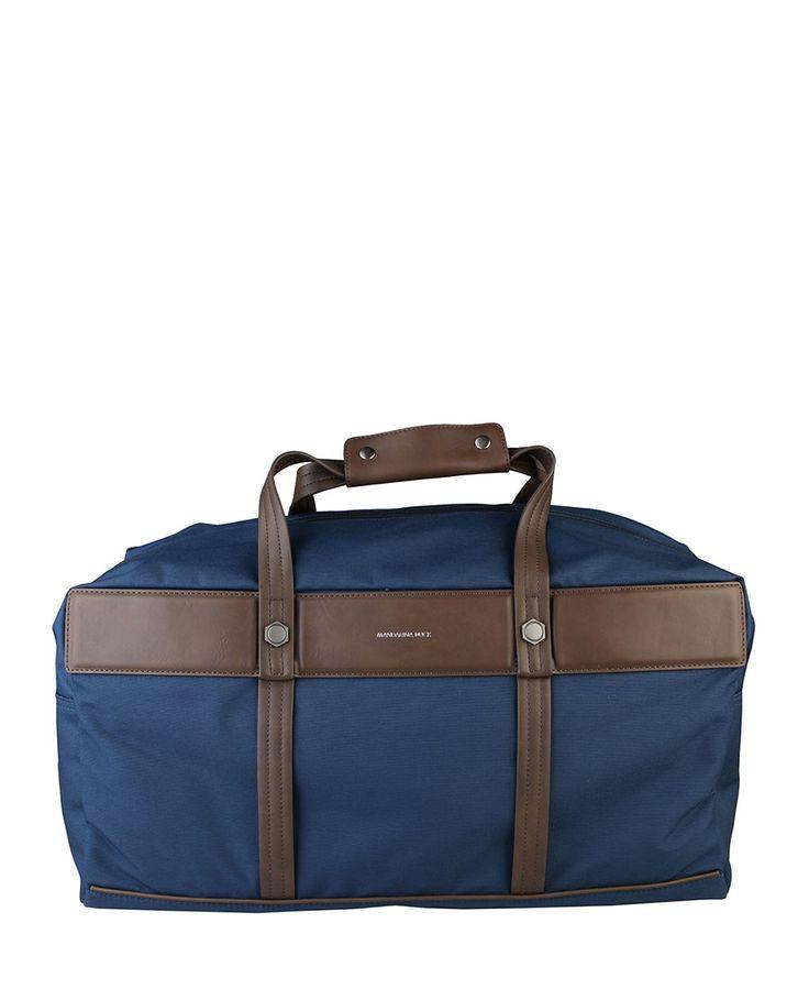 Duffle bag - material: pl, pa, pu - 2 handles, removable shoulder strap - zip fastening, internal storage pockets, 1 ext - Travel bag women Blue