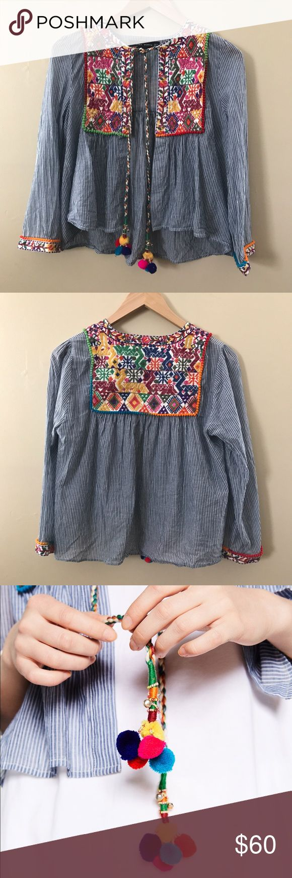 Zara Short Embroidered Jacket Zara Short Embroidered Jacket • Size Medium • New without tags      Revolve clothing , Forever 21 , Nordstrom , Shop bop , anthropologie , Urban Outfitters , Free People , ASOS , tribal , stripped , bohemian , boho , vintage  ( stores for views ) Zara Jackets & Coats