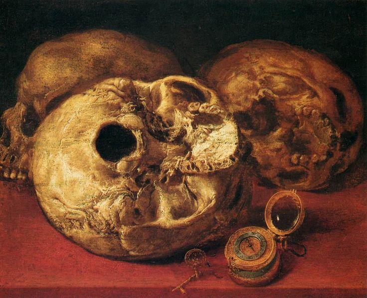 Antonio de Pereda (1611-1678), VANITAS (1640s), canvas, 31 x 317 cm. Zaragoza, Museo Provincial de Bellas Artes.