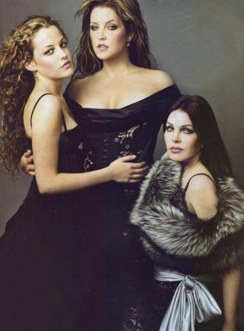 Priscilla Presley, her daughter Lisa Marie, and her daughter.   The DNA doesn't lie.