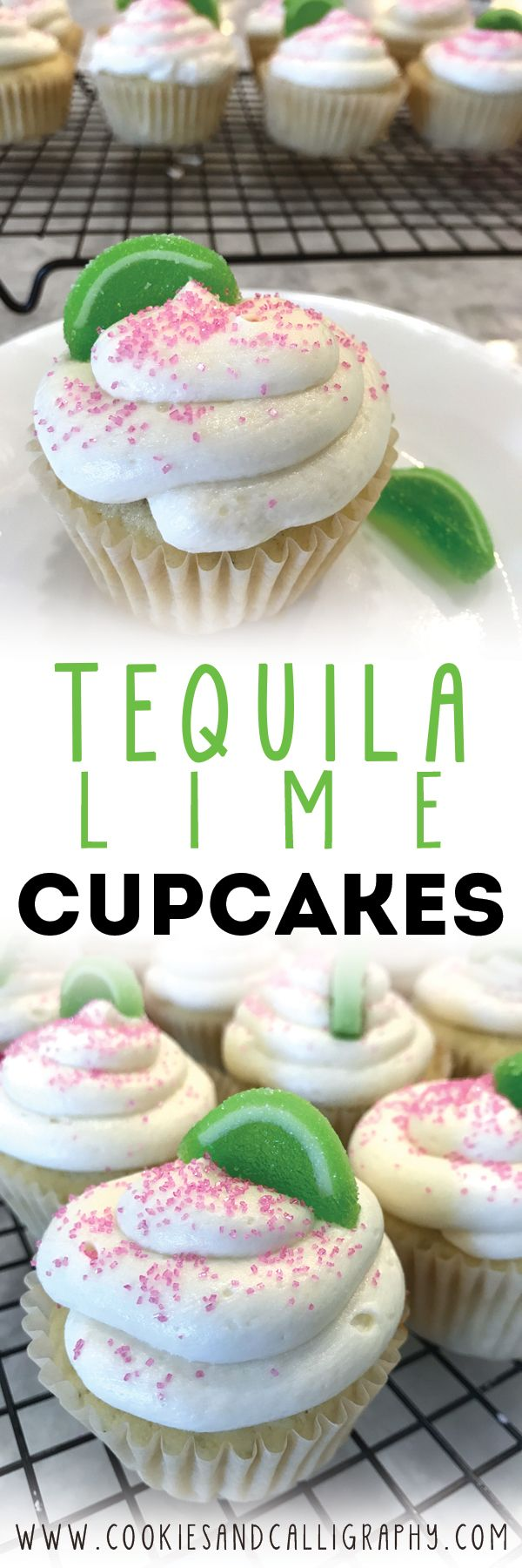 TEQUILA LIME CUPCAKES   In honor of National Tequila Day today we are so excited to share with you the official cupcake of summer, Tequila Lime Cupcakes! They have joined our list of go-to recipe favorites, and are requested all the time by family and friends.  Yes, it is true that vanilla and chocolate cupcakes are usually our jam (you can't mess with classic perfection), but these beauties are true showstoppers! The creamy vanilla and lime flavors infused with the perfect kick of Tequila…