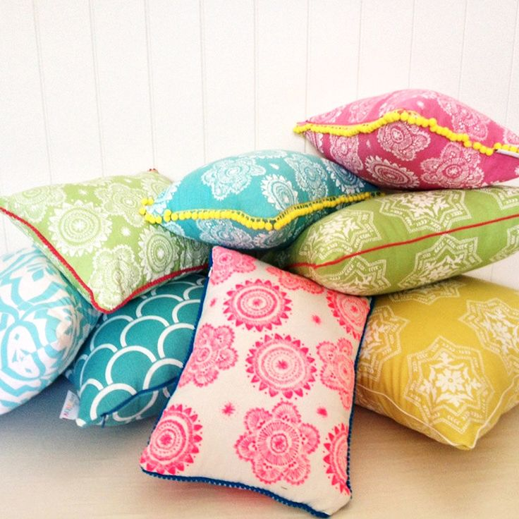 Turquoise Flower Pillow