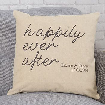Personalised Engagement Gift Cushion