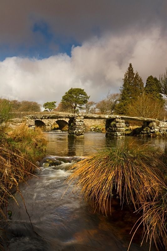 Postbridge is where you can find the old clapper bridge and start many different walks on Dartmoor.