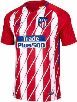 2017/18 Nike Atletico Madrid Home Jersey. Buy yours from www.soccerpro.com today. Support Los Colchoneros!