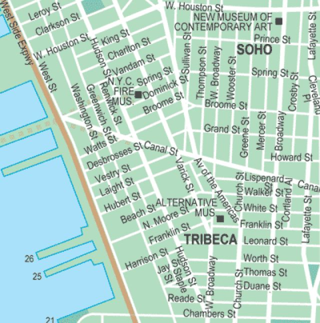 A Helpful Map For Visiting NYC's SoHo And TriBeCa Areas In