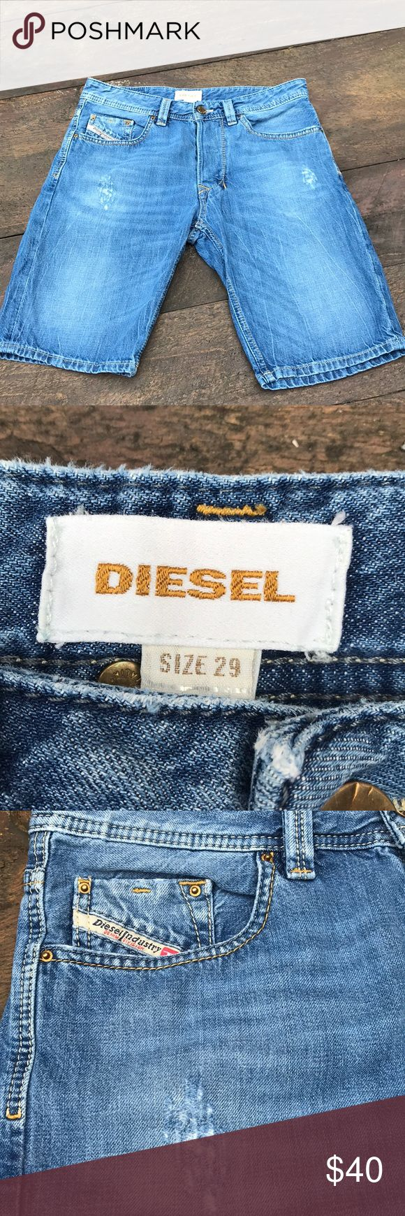 Men's diesel denim short Men's Diesel denim short. Size 29. Distressed. Button fly. Great condition. Diesel Shorts