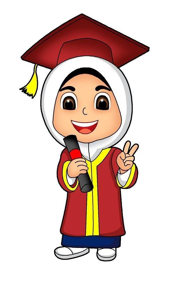 kartun muslimah no selfie | Kartun, Ilustrasi karakter, Gambar