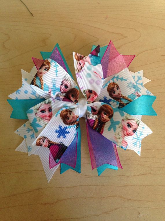 Ana and Elsa Frozen hair bow on Etsy, $9.00