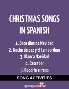 Spanish Class Activities With Christmas Songs in Spanish | Spanish Activities