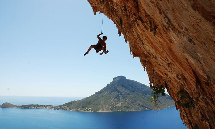 Rock climbing at the island of Kalymnos, Greece CallGreece.gr