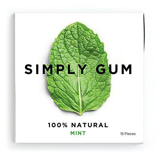 Simply Gum 100% Natural Chewing Gum Mint - 6 Packs (15 pieces/pack) Simply Gum http://www.amazon.com/dp/B00NJB8G7G/ref=cm_sw_r_pi_dp_itztvb0ZQ95W5
