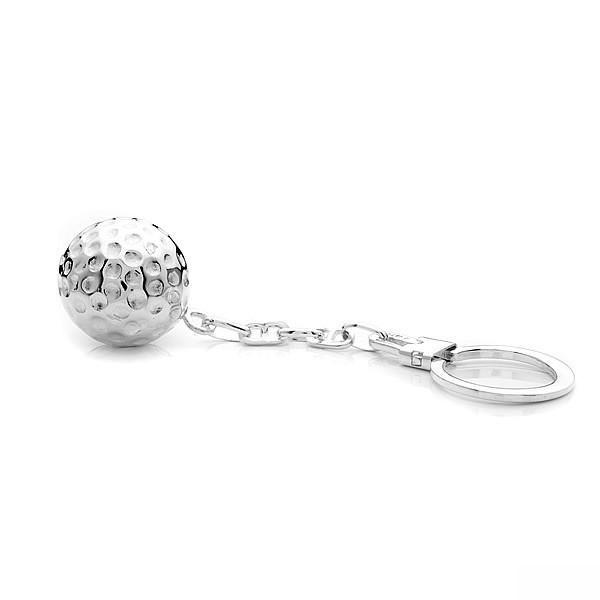 Silver Golf Ball Keyring