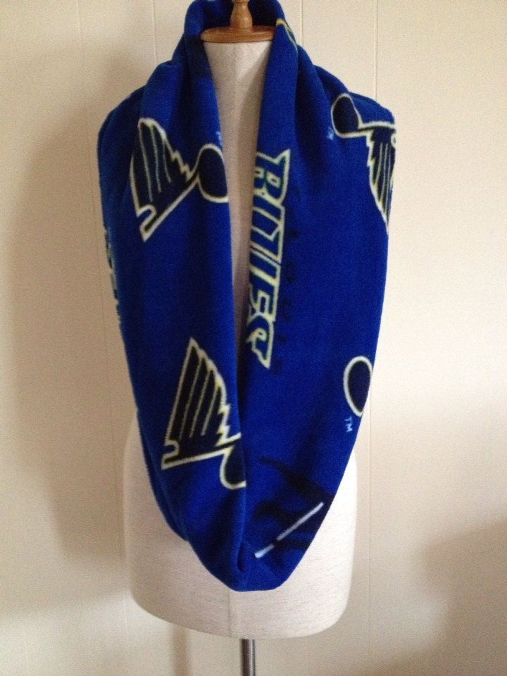 St. Louis Blues Hockey Fleece Infinity Scarf by lookatmybooties on Etsy