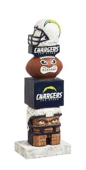 San Diego Chargers NFL Tiki Totem Whimsical Figurine