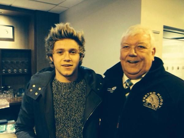 Niall at a rugby match today