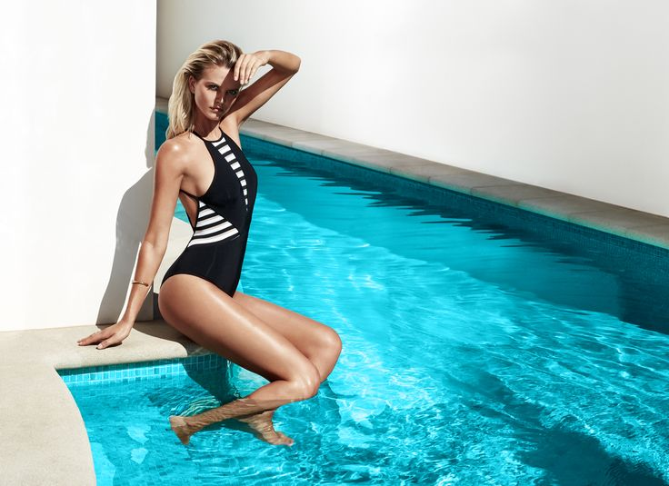JETS Swimwear Define One-Piece Swimsuit | With a clean aesthetic and slick shape, this high neck one-piece swimsuit has enduring appeal with glimpses of skin in all the right places.  Understated glamour with a touch of sports-luxe, crave a never-ending summer and shop the look today.