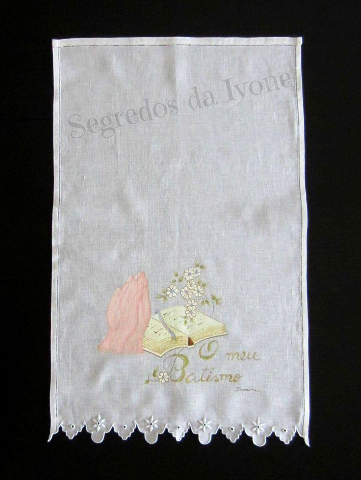 AB2- Pintura em toalha de batismo