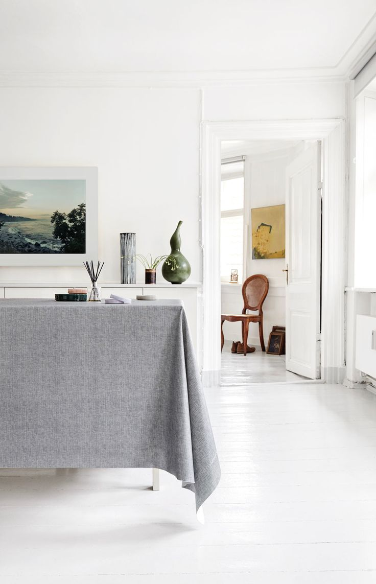 Almost Linen Oilcloth in Dark Grey. Buy online.