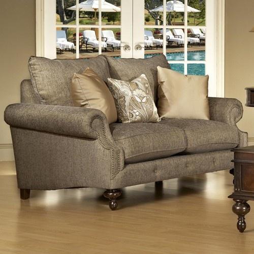 Cheap Sectional Sofas Peninsula Love Seat w Nailhead Trimming by Fairmont Designs Hudsons Furniture Love Seat Tampa St Petersburg Orlando Ormond Beach