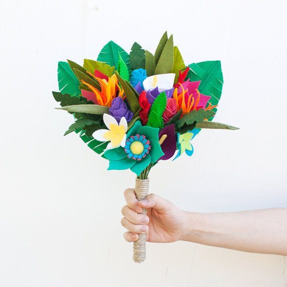 Hey, I found this really awesome Etsy listing at https://www.etsy.com/listing/232765377/felt-flower-tropical-bouquet-tropical