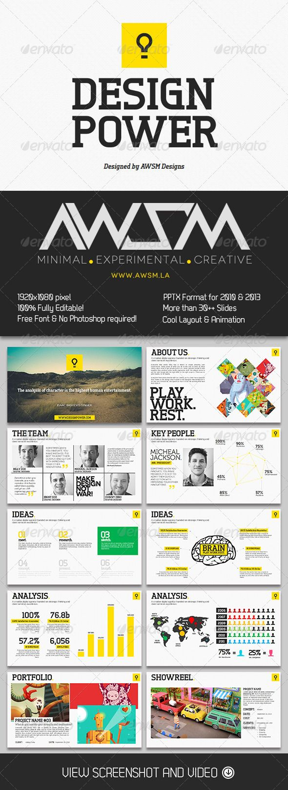 Design Power PowerPoint Template - Creative Powerpoint Templates