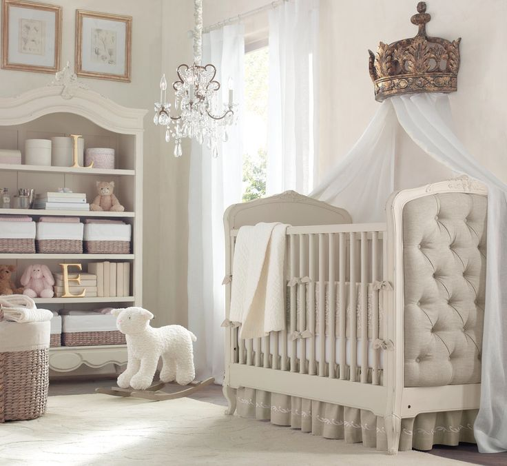 Lovely A Posh, Neutral Color Nursery With White And Grey Decor