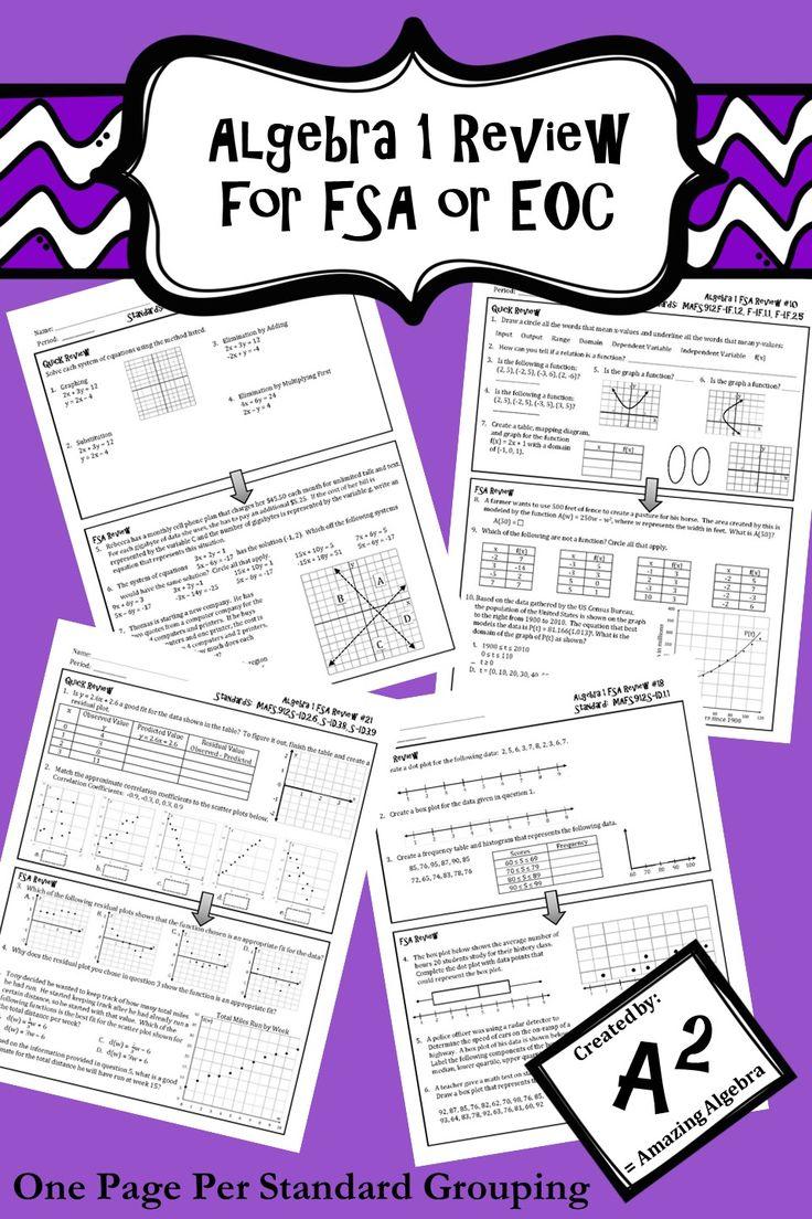 15 best Algebra 1 - EOC Review images on Pinterest   Algebra ...
