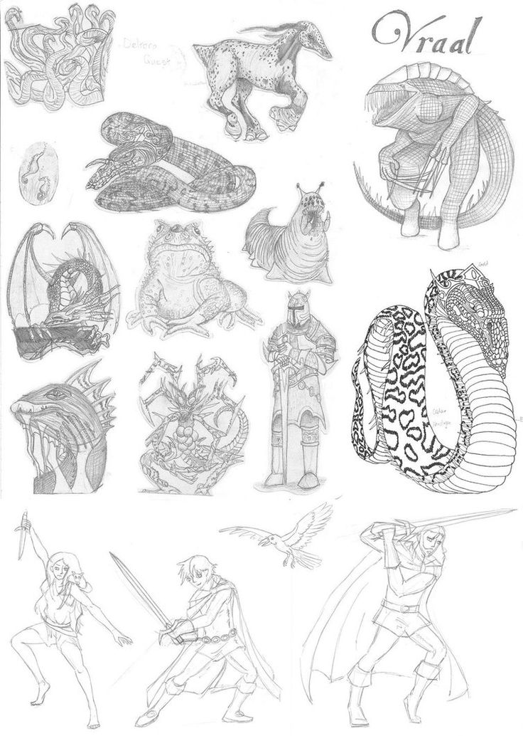 Deltora Quest - Sketchdump 1 by King-of-Deltora on DeviantArt